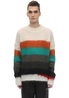 Moncler Fragment Mohair Blend Knit Sweater