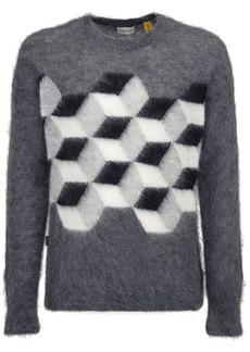 Moncler Fragment Mohair Blend Knit Sweater