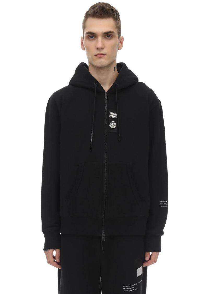 Moncler Fragment Zip-up Cotton Sweatshirt Hoodie
