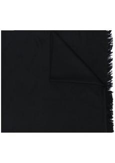 Moncler frayed scarf