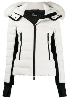 Moncler fur trim hooded padded jacket