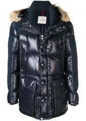 Moncler fur trim puffer jacket