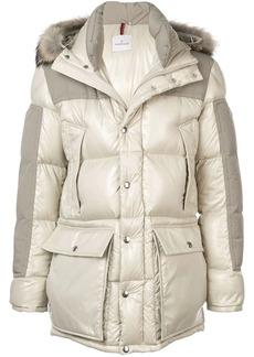 Moncler fur-trimmed down jacket