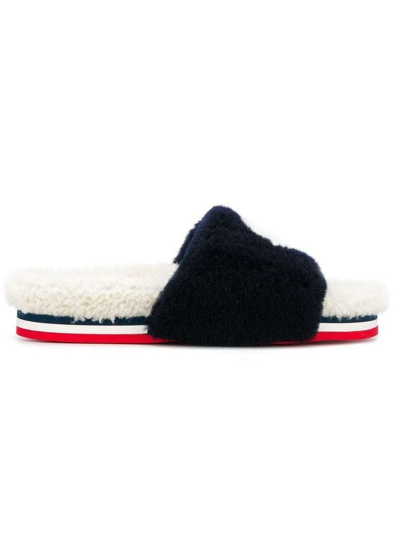 Moncler furry slippers