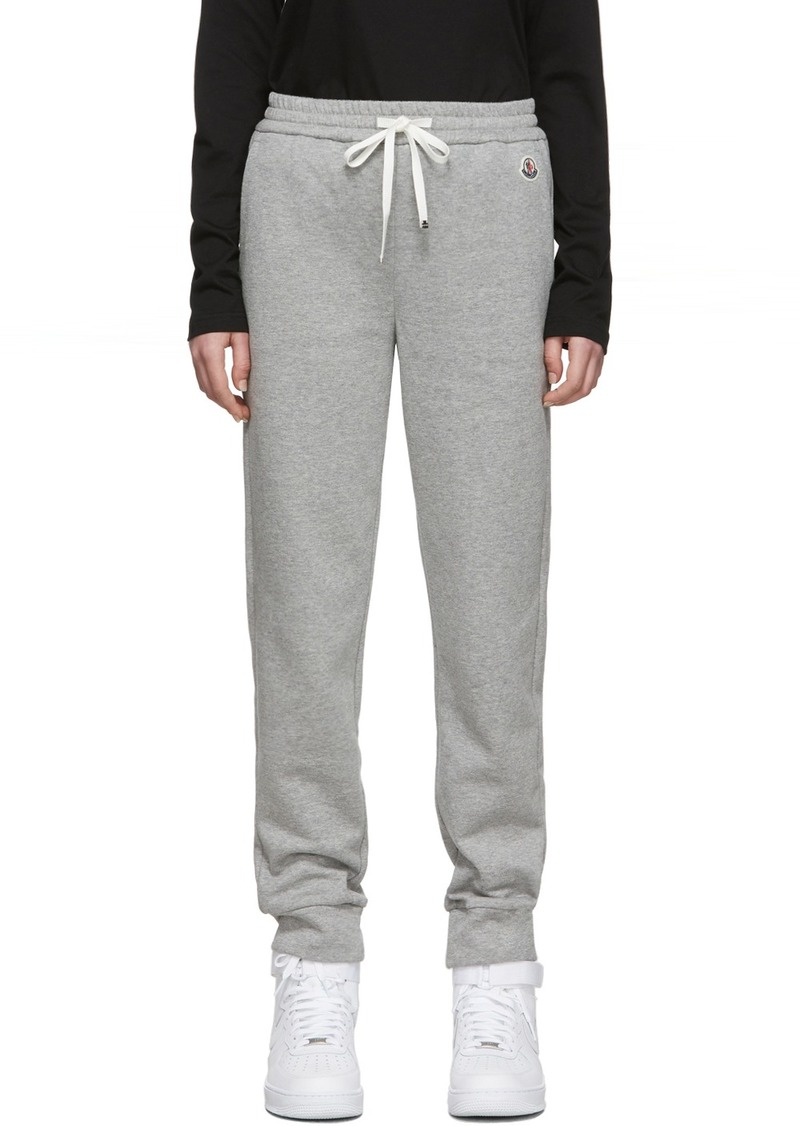 Moncler Grey Logo Lounge Pants
