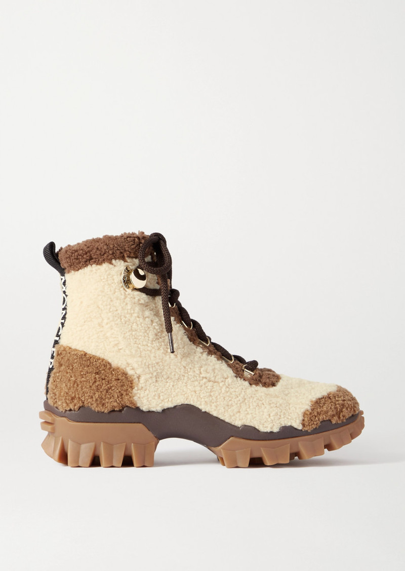 Helis Logo-print Shearling Ankle Boots