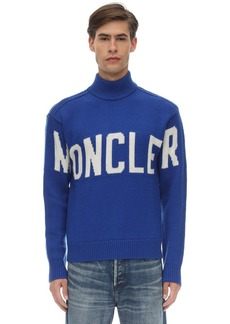 Moncler High Collar Virgin Wool Tricot Sweater