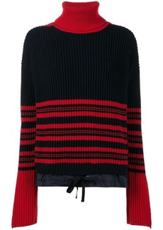 Moncler high-neck striped knitted jumper