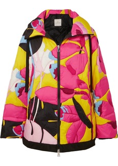 Moncler Hooded Printed Shell Down Jacket
