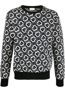 Moncler jacquard-logo crew neck jumper