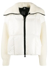 Moncler knitted padded jacket.