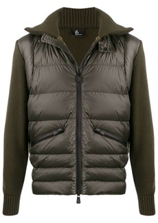 Moncler knitted padded jacket
