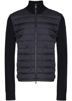 Moncler knitted-sleeve padded jacket