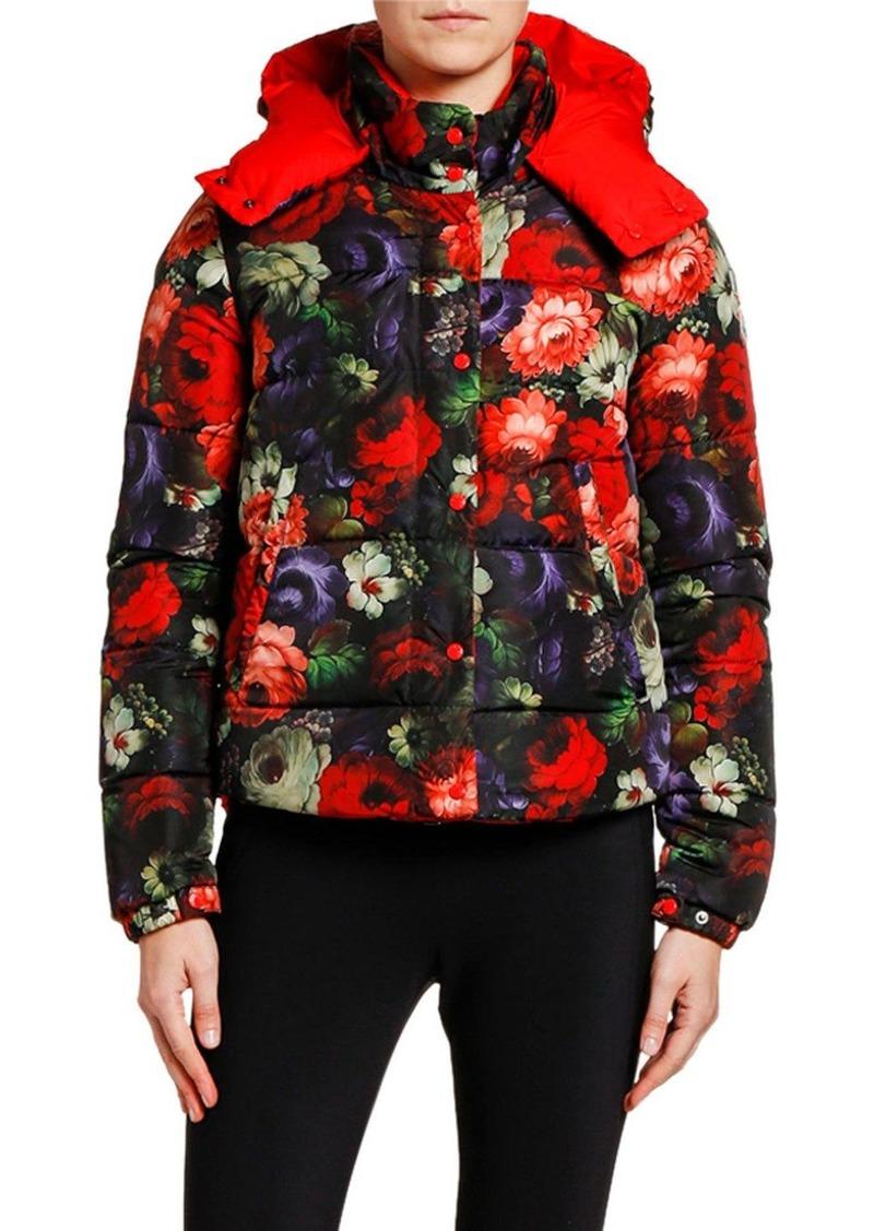 Moncler Koura Reversible Floral Puffer Jacket