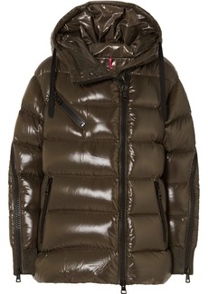 Moncler Liriope Quilted Glossed-shell Down Jacket