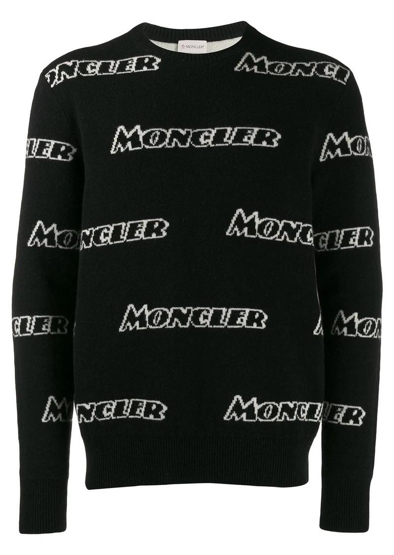 Moncler logo intarsia sweater