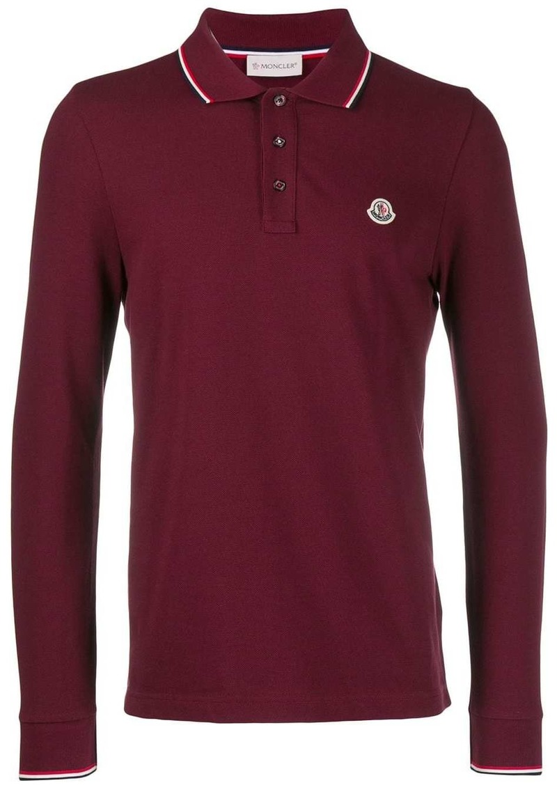 Moncler logo long-sleeve polo shirt
