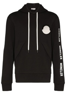 Moncler logo outline print hoodie