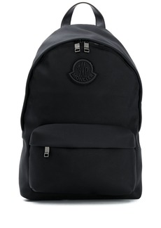 Moncler logo patch front zip detail backpack