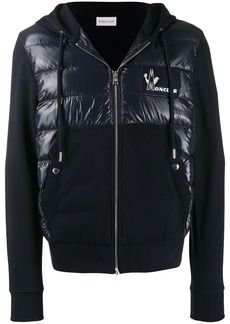 Moncler logo patch padded hoodie