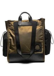Moncler logo-patch tote bag
