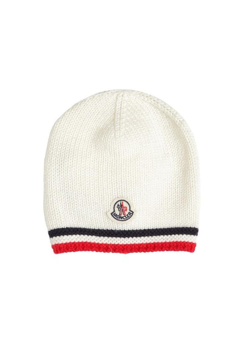 Moncler Logo Patch Wool Hat