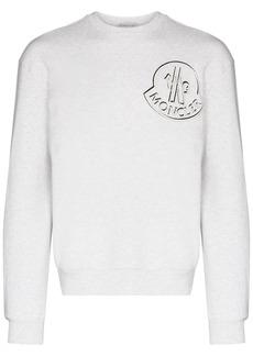 Moncler logo-print crew-neck sweatshirt