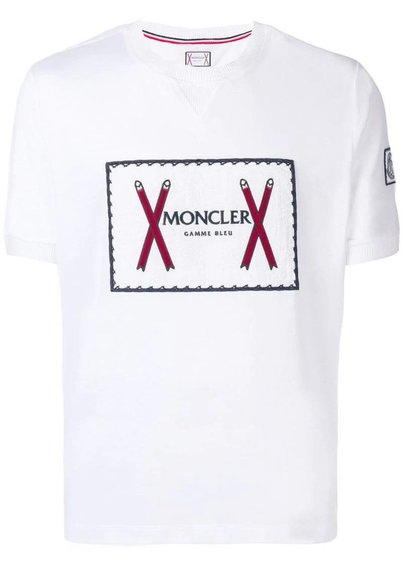 8413f8894f58 Moncler logo print T-shirt