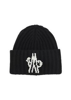 Moncler Logo Wool Knit Beanie Hat