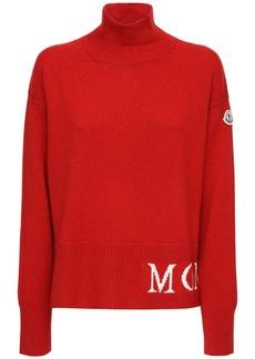 Moncler Logo Wool Rib Knit Sweater