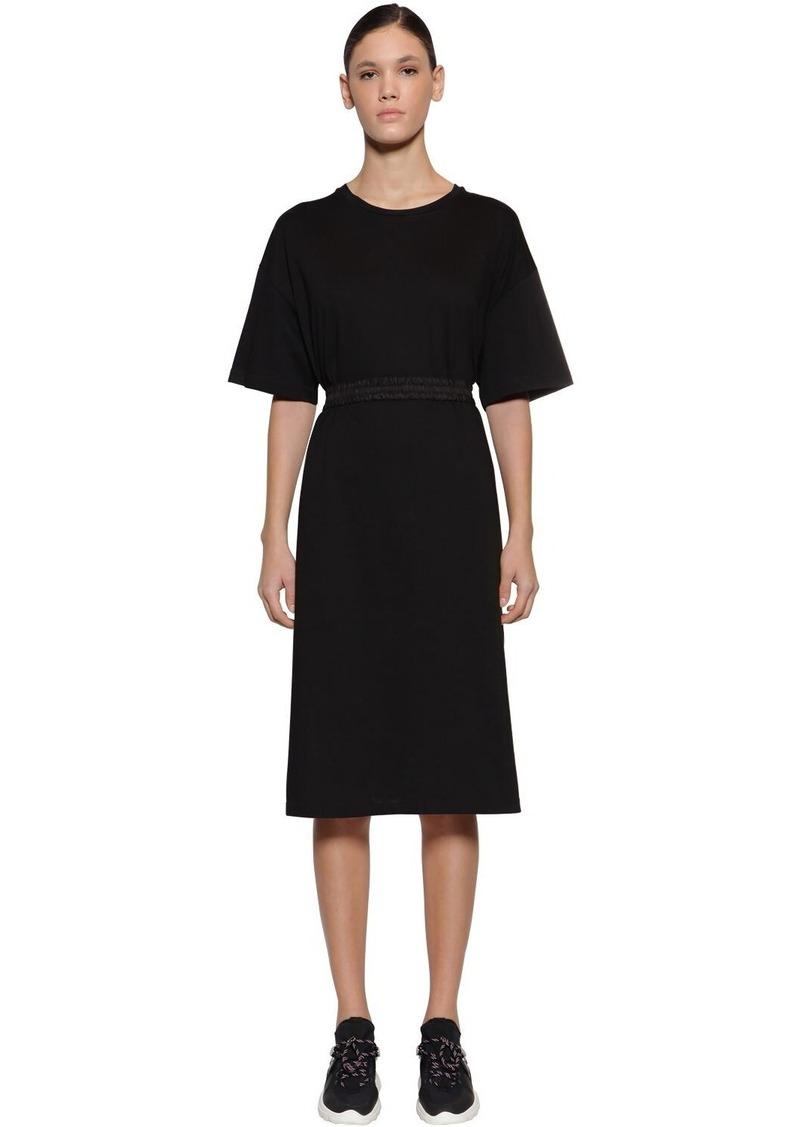 Moncler Macro Logo Cotton Dress
