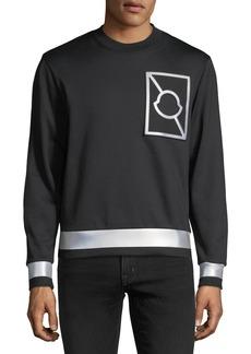 Moncler Maglia Girocollo Logo Sweatshirt with Reflective Taping