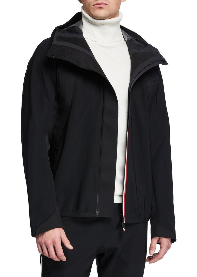 Moncler Men's Grenoble Jersey Zip-Front Cardigan
