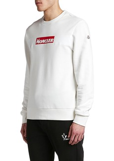 Moncler Men's Long-Sleeve Logo Stamp Shirt