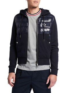 Moncler Men's Quilted Zip-Front Cardigan