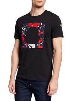 Moncler Men's Square Bell Logo T-Shirt