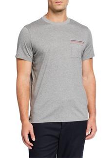 Moncler Men's Stripe Pocket T-Shirt