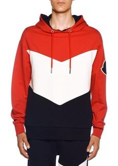 Moncler Men's Tricolor Jersey Hoodie Sweatshirt