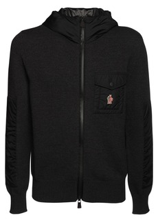 Moncler Wool Tricot Knit Sweater