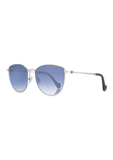 Moncler Mirrored Metal Butterfly Sunglasses
