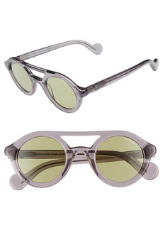 Moncler 47mm Rounded Sunglasses
