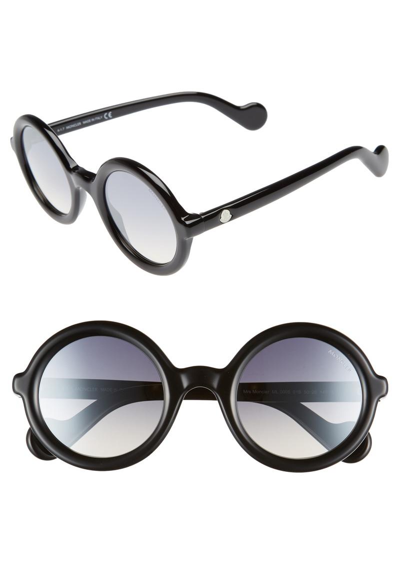 3c81074bf761 Moncler Moncler 50mm Gradient Lens Round Sunglasses
