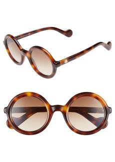 Moncler 50mm Gradient Lens Round Sunglasses