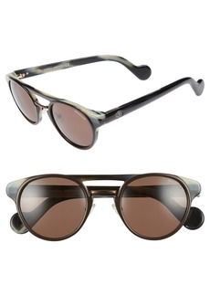 Moncler 50mm Keyhole Sunglasses