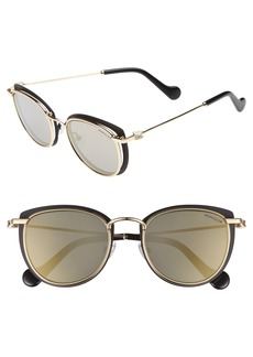 Moncler 50mm Mirrored Geometric Sunglasses