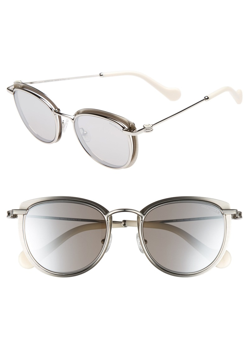 01ca10a76a86 Moncler Moncler 50mm Mirrored Geometric Sunglasses