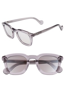 Moncler 50mm Square Sunglasses