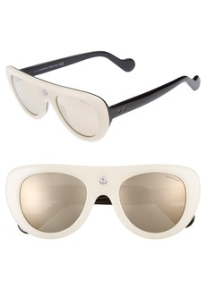Moncler 51mm Shield Sunglasses