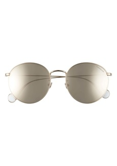 Moncler 55mm Round Sunglasses