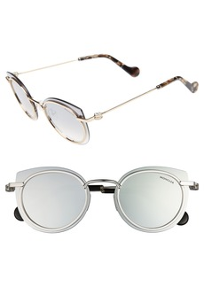 Moncler 56mm Mirrored Cat Eye Sunglasses